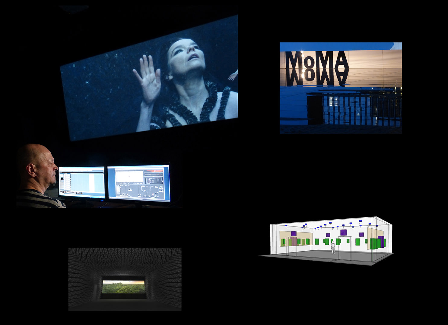 Spatial sound systems for Björk at MoMA
