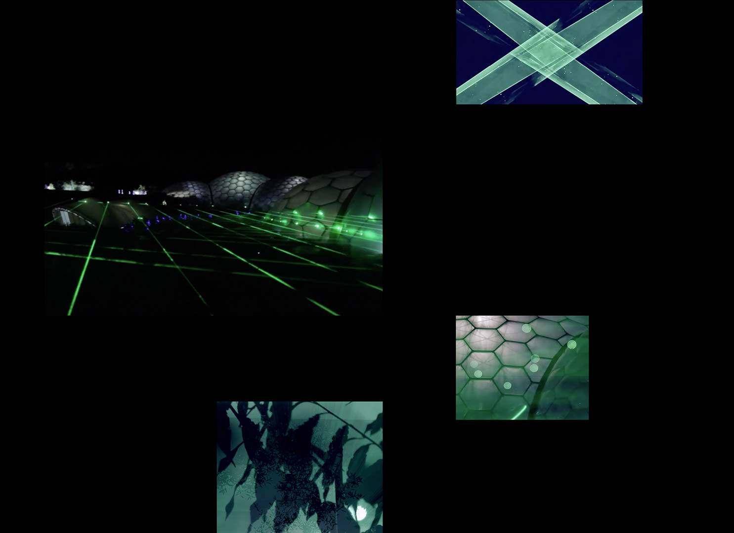 Spatial audio with lazer light and natural science 3D images at EdenLab